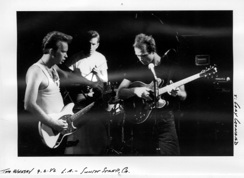 Dave Alvin, Bill Bateman, Phil Alvin @ Whiskey a Go Go, 1982
